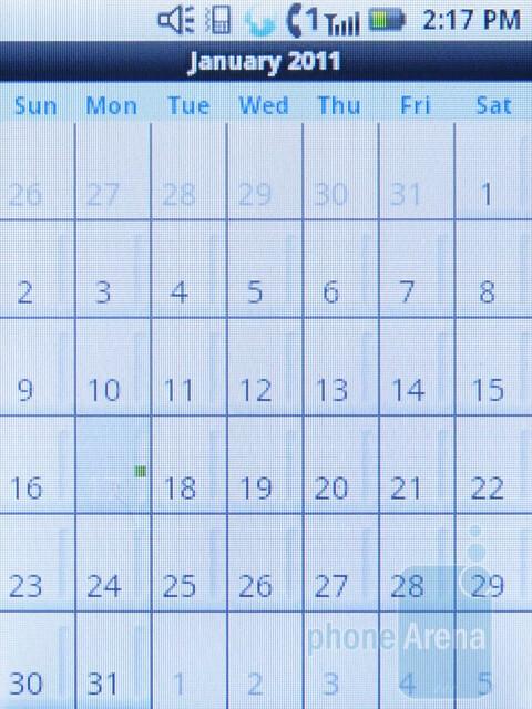 Calendar - Motorola i886 Review