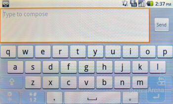 Huawei keyboard - There are three available keyboards that you can choose from - Huawei IDEOS X5 Preview