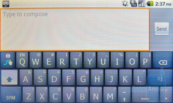 Swype - There are three available keyboards that you can choose from - Huawei IDEOS X5 Preview