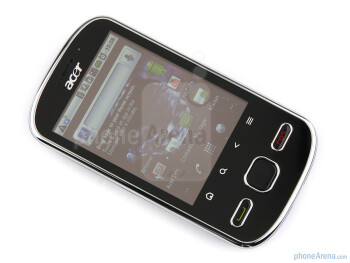 Buttons below the 2.8-inch resistive screen - Acer beTouch E140 Review