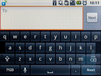 The virtual keyboard of the Acer beTouch E140 is a responsive one - Acer beTouch E140 Review