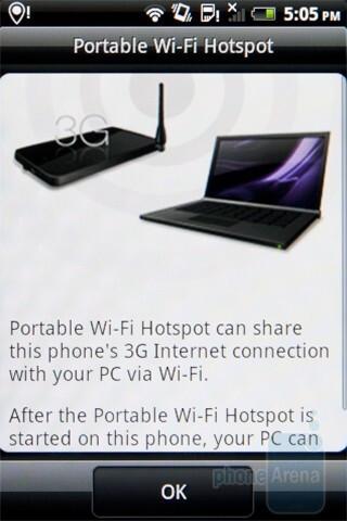 The Wi-Fi Hotspot app - HTC Gratia Review