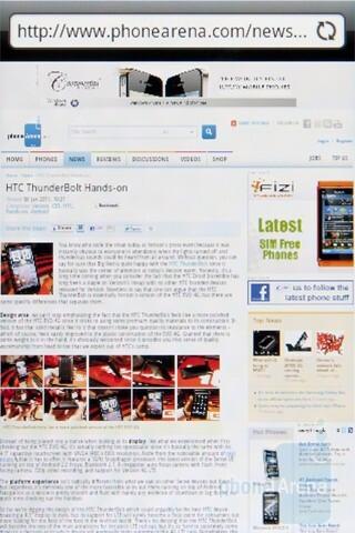 Web surfing - HTC Gratia Review