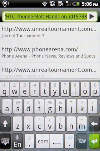 HTC Sense keyboard - HTC Gratia Review