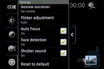 Camera interface - HTC Gratia Review