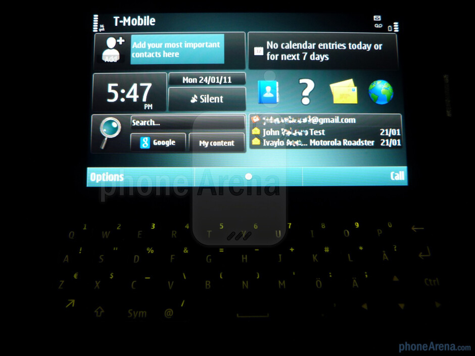 The landscape keyboard has chicklet style buttons - Nokia E7 Preview