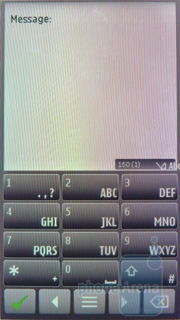 The on-screen keyboard of the Nokia E7 - Nokia E7 Preview