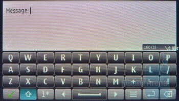 The on-screen keyboard of the Nokia E7 - Nokia E7 Preview