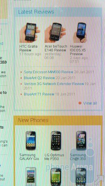 Web browsing - Nokia E7 Preview