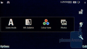 Camera interface - Nokia E7 Preview