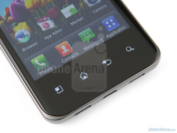 There are four capacitive Android buttons below the screen - LG Optimus 2X Review