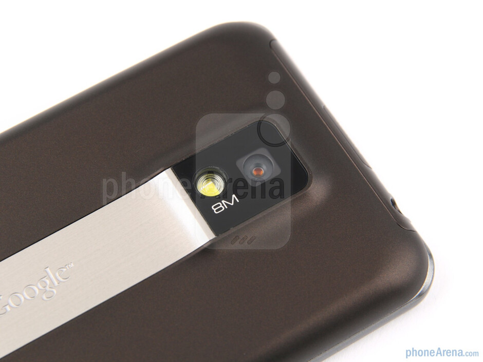 The elevated square module on the back hosts the 8MP camera - LG Optimus 2X Review
