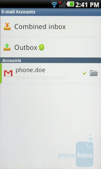 LG's own email app - LG Optimus 2X Review