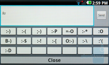 The On-screen keyboard of the LG Optimus 2X - Nokia E7 vs LG Optimus 2X vs Apple iPhone 4
