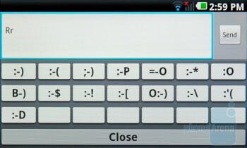 On-screen keyboard - LG Optimus 2X Review