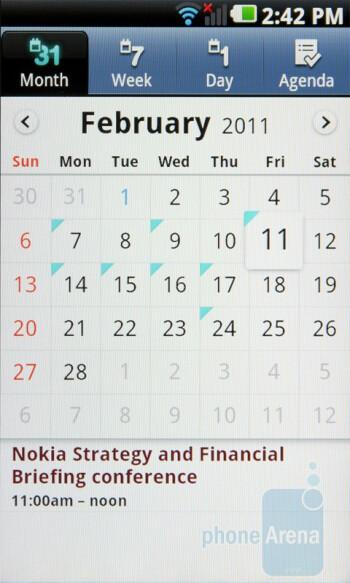 Calendar - LG Optimus 2X Review