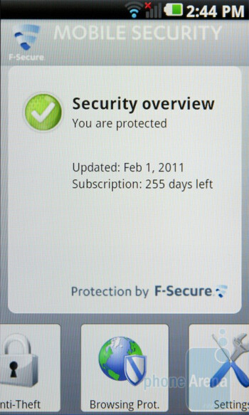 The LG Optimus 2X comes with a free one-year subscription to F-Secure's Mobile Security suite - LG Optimus 2X Review