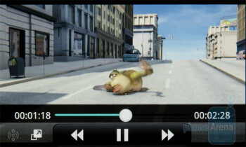 The video player of theLG Optimus 2X - LG Optimus 2X vs Apple iPhone 4