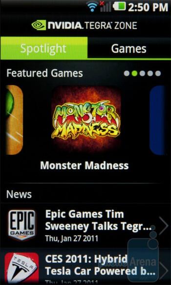 The Tegra Zone app - LG Optimus 2X Review