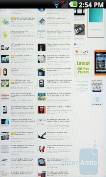 The browser on the LG Optimus 2X executes both JavaScript and Adobe Flash elements very quickly - LG Optimus 2X Review