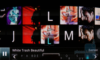 Music player in landscape mode - LG Optimus 2X Review