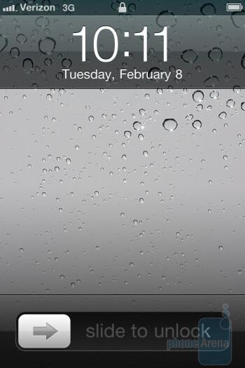 The interface of the Verizon iPhone 4 - Verizon iPhone 4 vs DROID 2 Global