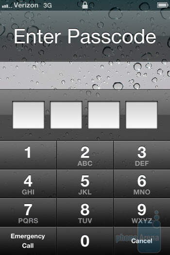 The interface of the Verizon iPhone 4 - Verizon iPhone 4 vs DROID 2 Global