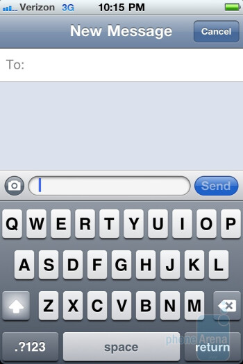 Messaging - Email on the Verizon iPhone 4 - Verizon iPhone 4 vs DROID 2 Global