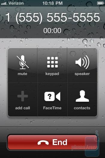 Dialpad and phonebook of the Verizon iPhone 4 - Verizon iPhone 4 Review