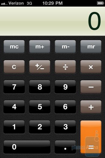 The Calculator app - Verizon iPhone 4 Review