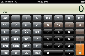 The Calculator app - Verizon iPhone 4 Review