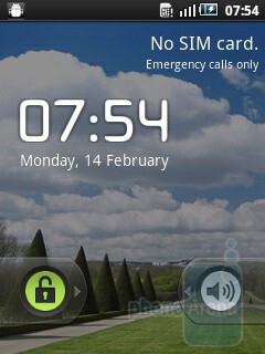 Homescreen - The interface of the Samsung GALAXY mini - Samsung GALAXY mini Preview
