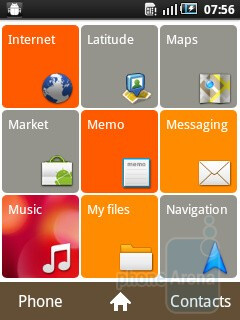 The interface of the Samsung GALAXY mini - Samsung GALAXY mini Preview