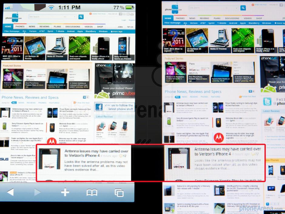 The Apple iPhone 4 (L) and the LG Optimus 2X (R) - LG Optimus 2X vs Apple iPhone 4