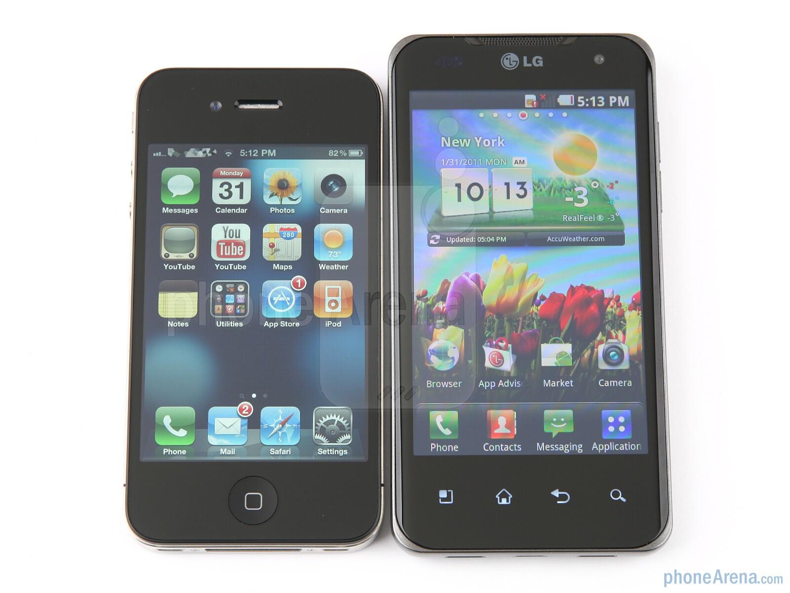 Quality of video: Apple iPhone 4 vs. LG Optimus speed