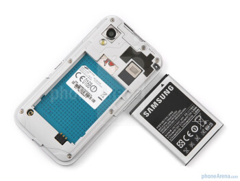 Under the back cover - The sides of the Samsung GALAXY Ace - Samsung GALAXY Ace Preview