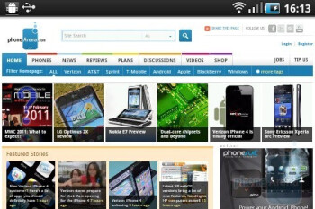 Surfing the web with the Samsung Galaxy Ace - Samsung Galaxy Ace Review