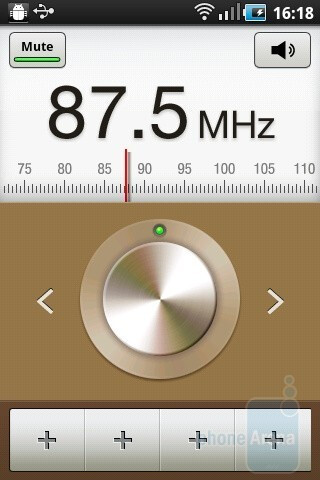 The FM radio - Samsung GALAXY Ace Preview