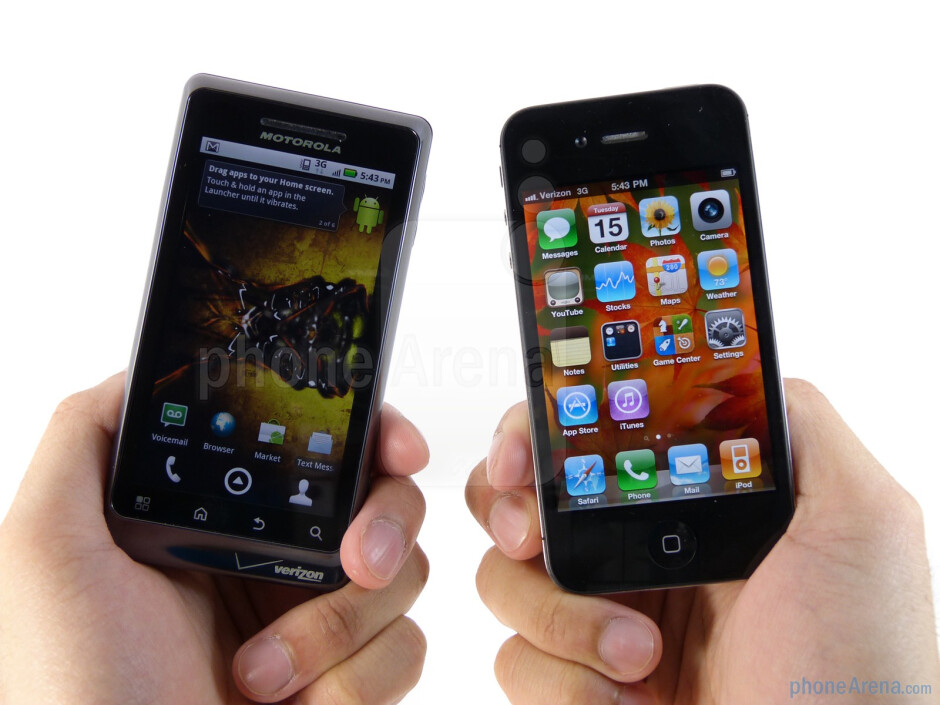 Both handsets are fantastically well built all around - Verizon iPhone 4 vs DROID 2 Global