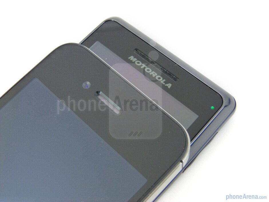 The Motorola DROID 2 Global has a physical keyboard, while the Apple iPhone 4  boasts a front-facing camera - Verizon iPhone 4 vs DROID 2 Global