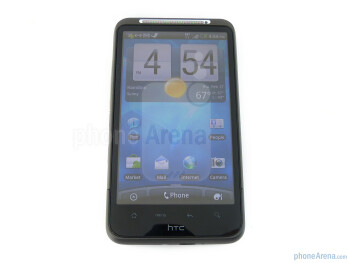 The HTC Inspire 4G  has capacitive touch buttons beneath its touchscreen - HTC Inspire 4G Review