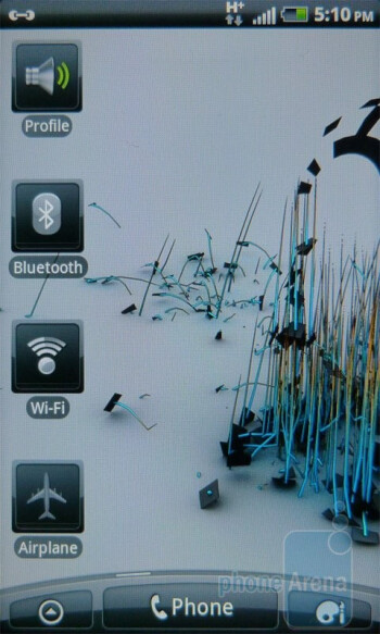 The interface of the HTC Inspire 4G - HTC Inspire 4G Review