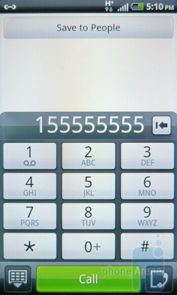 Dialer - HTC Inspire 4G Review