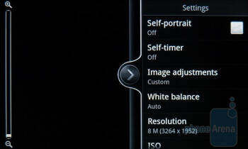 Camera interface - HTC Inspire 4G Review