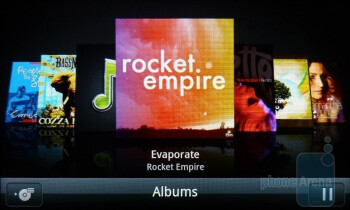 The music player seemingly keeps the presentation factor in mind - HTC Inspire 4G Review