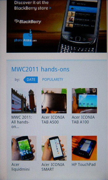 Web browsing - HTC Inspire 4G Review