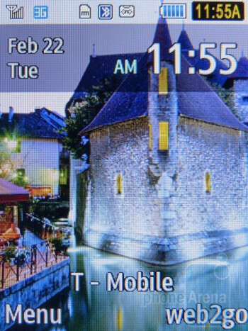 Home screen - The interface of the Samsung T259 - Samsung T259 Review