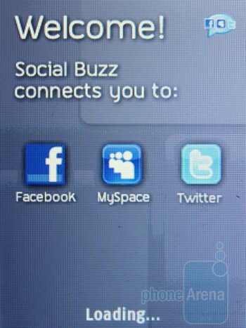 Social Buzz app - The handset comes along with an email client - Samsung T259 Review