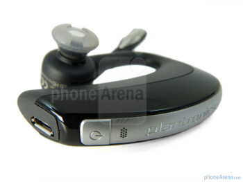 The power button and the microUSB port - Plantronics Voyager PRO+ Review