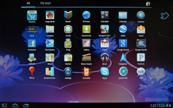 The apps panel of the Motorola XOOM - Motorola XOOM Review